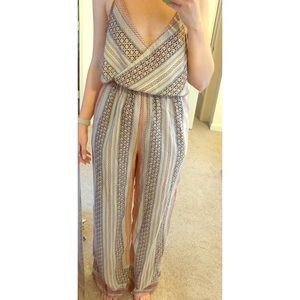 TOBI, Halter Jumper, Tribal Print Jumpsuit